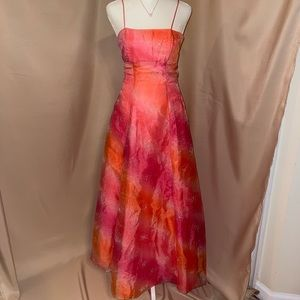 Pink and Orange dress with sparkle embellishments